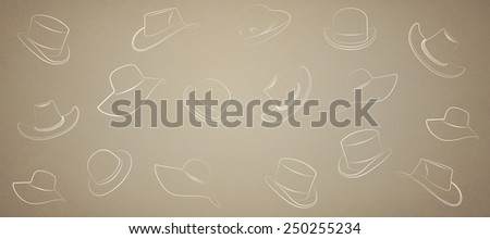 hat on a beige background - stock photo