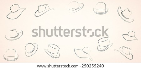 hat on a beige background