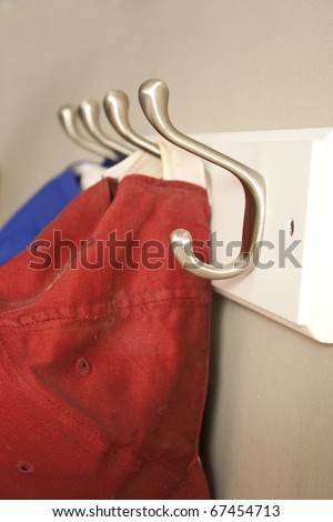 hat rack - stock photo