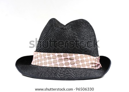 Hat with blue tap - stock photo