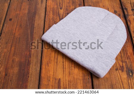 Hat woolen - stock photo