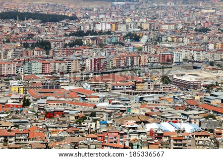 HATAY, TURKEY - AUGUST 21: Panoramic view of Hatay (Antakya) City on August 21, 2011 in Hatay, Turkey. Antakya is one of the most important tourism destinations in Turkey.