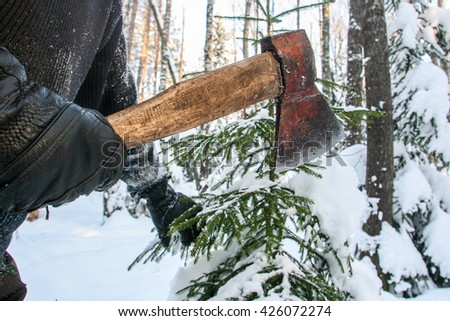 how to cut down a tree with a hatchet