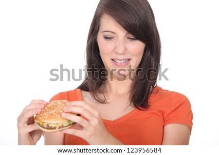 Hate a burger - stock photo