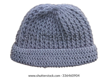 Hats Knitting Handmade on white background