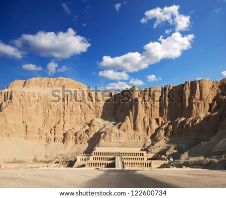 Hatshepsut temple in Luxor - stock photo