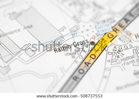 Hatton Cross. London, UK map.