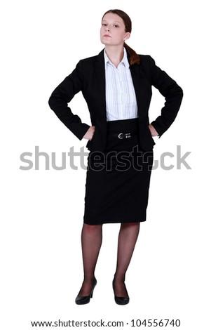 Haughty businesswoman - stock photo