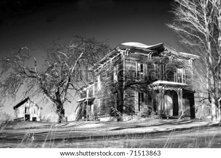 Haunted Farmhouse - stock photo