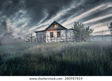 Haunted House  - stock photo