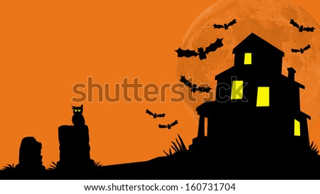 Haunted House Hill - stock photo