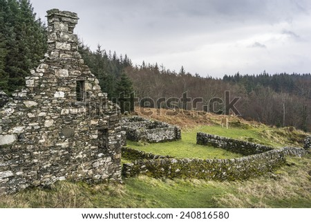 Haunting remains of Arichonan Township, a Cleared village in the Highlands of Scotland.