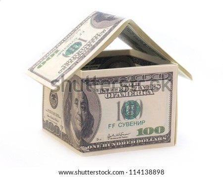 Hause of dollars - stock photo