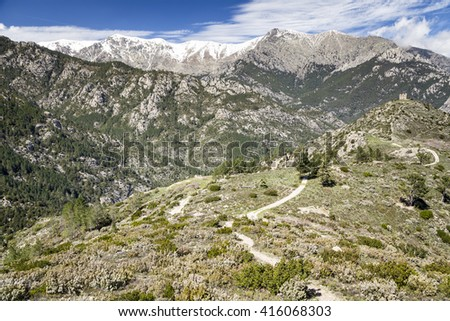Haute Corse moutains, Vivario region