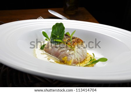 haute cuisine - stock photo