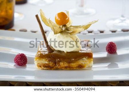 Haute cuisine dessert - stock photo