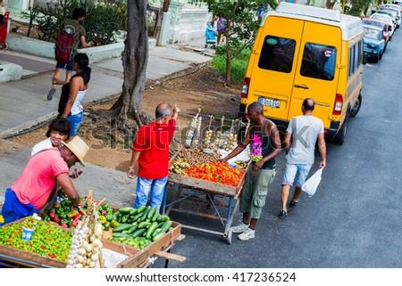 HAVANA - APRIL 27: Portrait of unknown people of the streets of Havana, Cuba on April 27, 2016 - stock photo