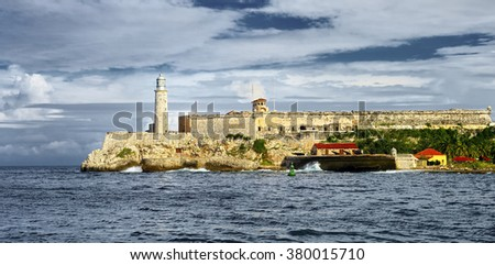 Havana. Cuba.  El Morro Fortress Lighthouse.  Travel