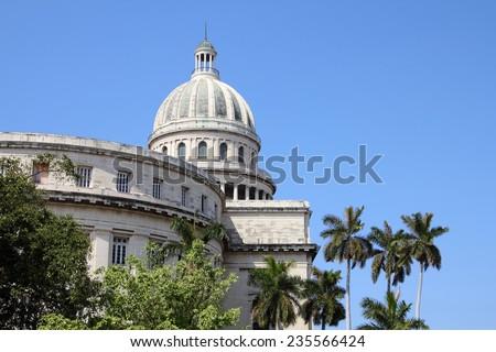 Havana, Cuba - government architecture. Famous National Capitol (Capitolio Nacional) building. - stock photo