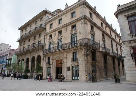 HAVANA, CUBA - JULY  16, 2013: Typical street view in Havana, the capital of Cuba - stock photo