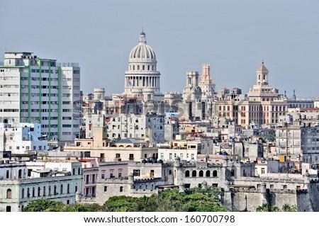 HAVANA, CUBA, MAY 11, 2009. A panorama of Havana, Cuba, on May 11th, 2009. - stock photo