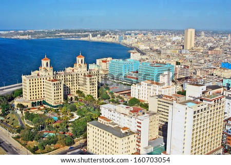 HAVANA, CUBA, MAY 11, 2009. Hotel Nacional, in Havana, Cuba, on May 11th, 2009. - stock photo