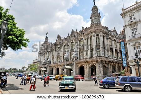 HAVANA, CUBA, MAY 11, 2009.  The Great Theatre of Havana, in Havana, Cuba, on May 11th, 2009. - stock photo