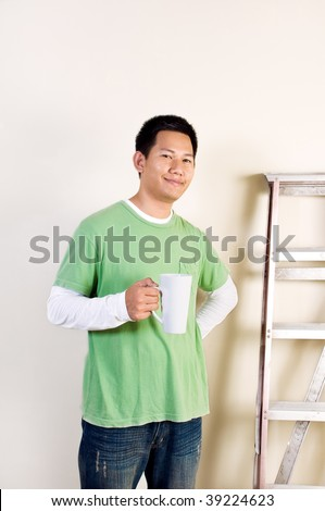 Have a break at site - stock photo