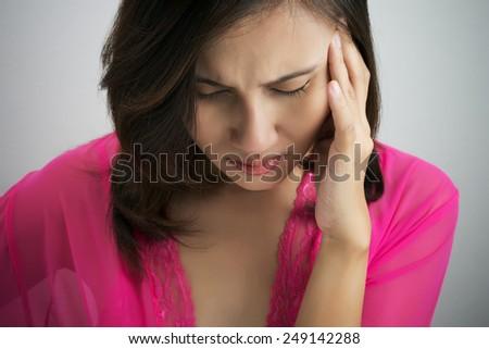 Have a headache - stock photo