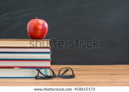 have apple for your lunch and you don't need glasses for back to school study