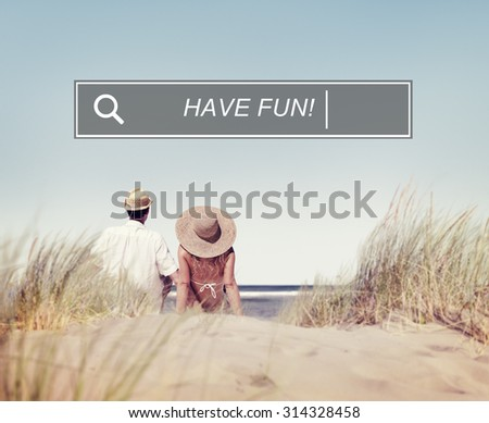 Have Fun Beach Browsing Search Box Concept - stock photo