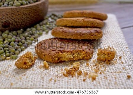 Havermout biscuits, mung bean oats, biscuits