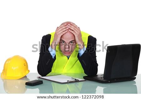 Having a headache. - stock photo
