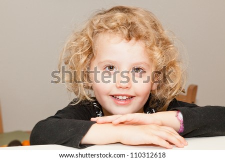 Having fun posing for pictures at home. - stock photo