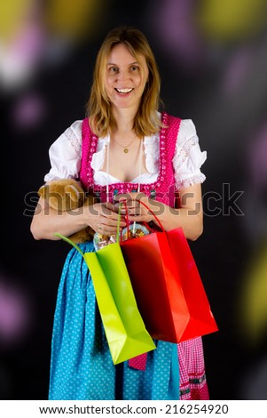Having nice time at Oktoberfest - stock photo