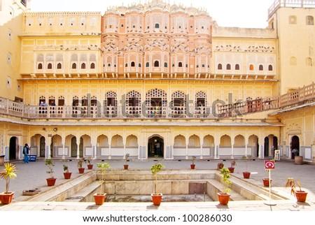 Hawa Mahal is a palace in Jaipur - stock photo