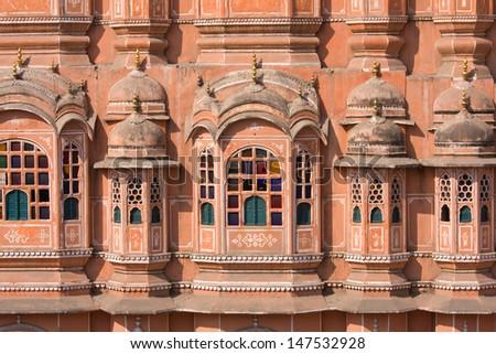 Hawa Mahal is a palace in Jaipur, India - stock photo