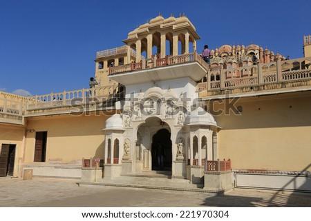 Hawa Mahal, Pink City, Jaipur, India - stock photo