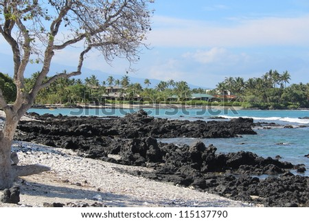 Hawaii Big Island Shoreline - stock photo