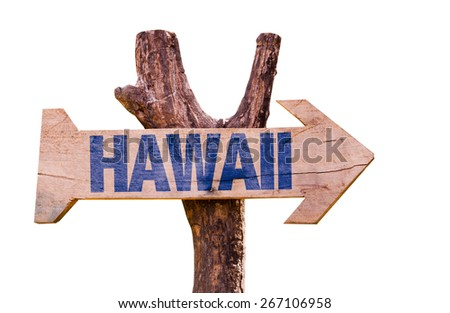 Hawaii sign isolated on white background - stock photo