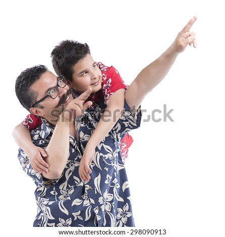 Hawaiian Guys Pointing Out