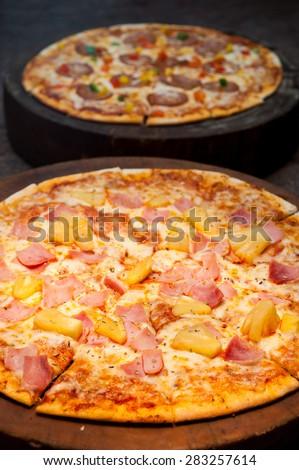 Hawaiian Pizza - stock photo