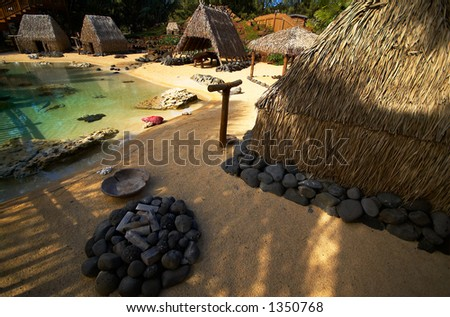 Hawaiian residence on Kauai Hawaii. More with keyword Series001H. - stock photo