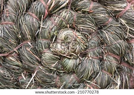Hay background - stock photo
