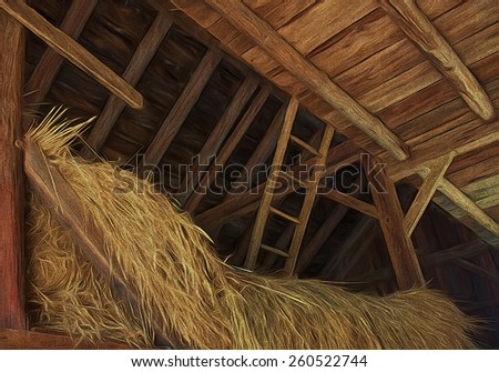 Hay Loft - stock photo