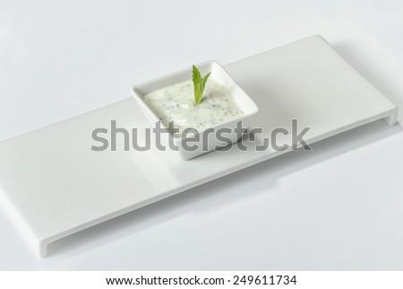 Haydari Turkish Appetizer - stock photo