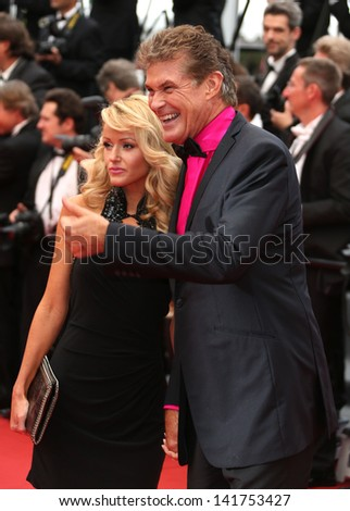 Hayley Roberts and David Hasselhoff at the 66th Cannes Film Festival - The Bling Ring premiere Cannes, France. 16/05/2013
