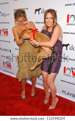 "Haylie Duff and Hilary Duff at the ""Bow Wow Wow"" Celebrity Fundraiser For Much Love Animal Rescue. Playboy Mansion, Los Angeles, CA. 07-14-07"
