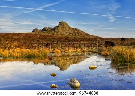 Haytor, Dartmoor National Park, Devon, UK - stock photo
