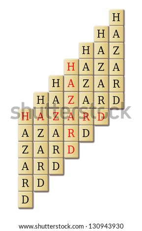 Hazard concept for safety related in the construction industry. - stock photo